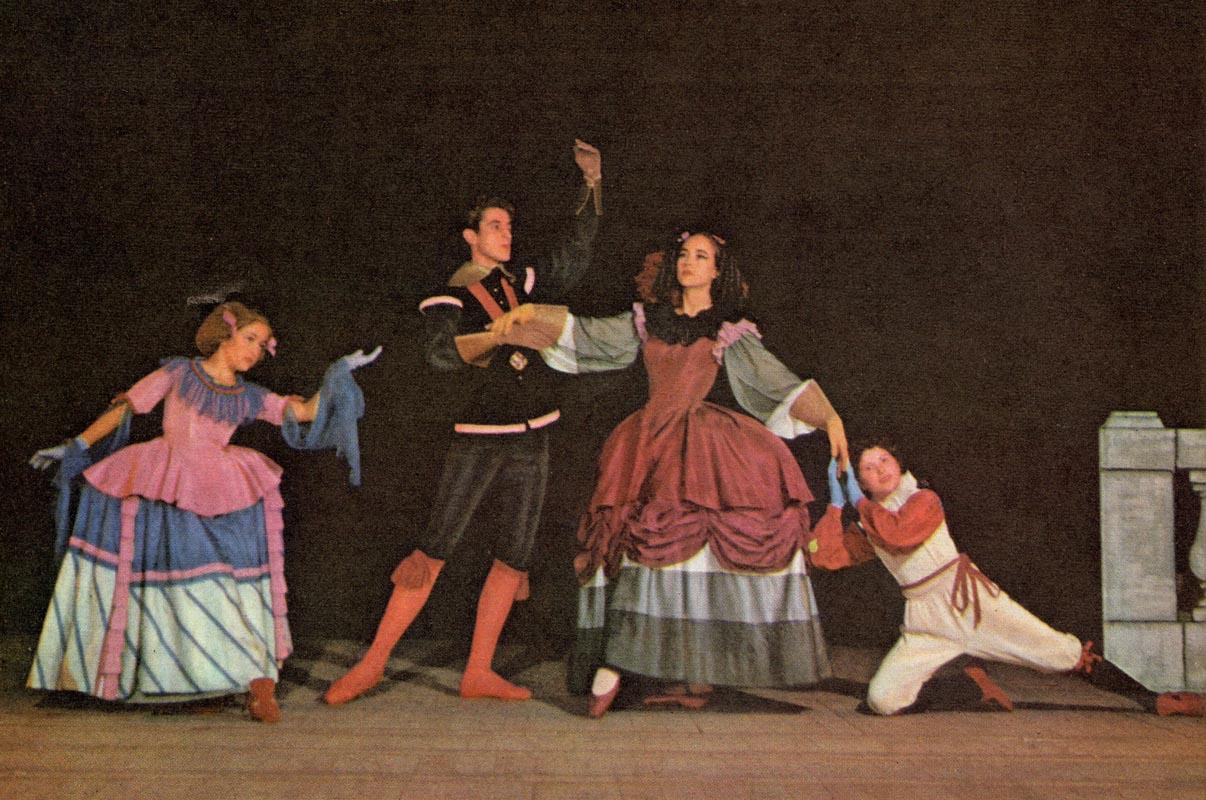 Españita Cortez et Jacques Chazot dansant Pavane pour une Infante défunte à  l Opéra-Comique en 1954 f9497a8916d